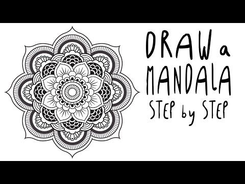 How To Draw A Mandala Step By Step For Beginners Easy Youtube