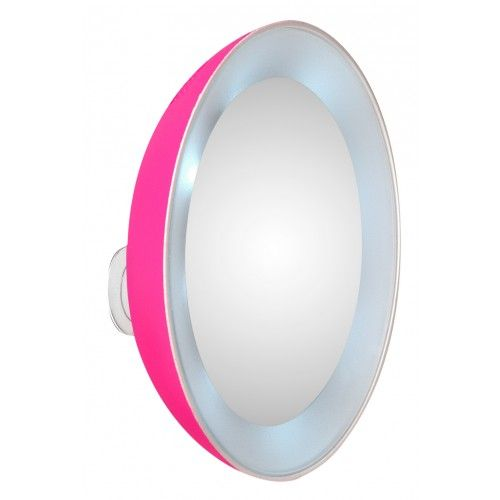 Revitalize your beauty routine with the most happy and brightly tinted Color Sensation Collection exclusively for Sephora –in young, fun, and flirty Pink Perfection. 15x magnification is clear from edge to edge with no distortion and lighted around the entire mirror for total, crystal clarity.  Attaches to any clean, smooth surface.