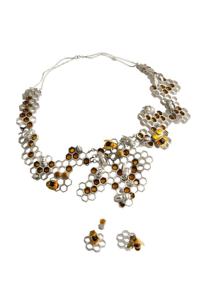 honeycomb and bee jewelry
