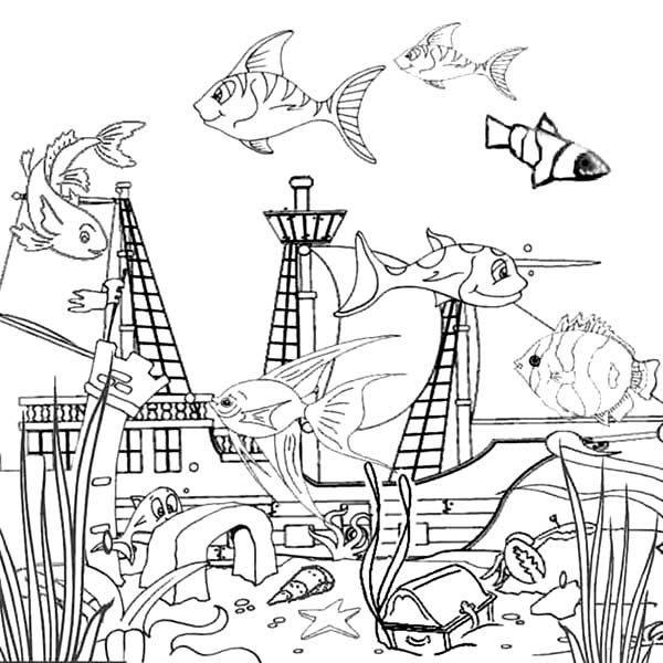 7a71cbe92d887f629b45d550d8955616 » Goldfish In Tank Coloring Pages