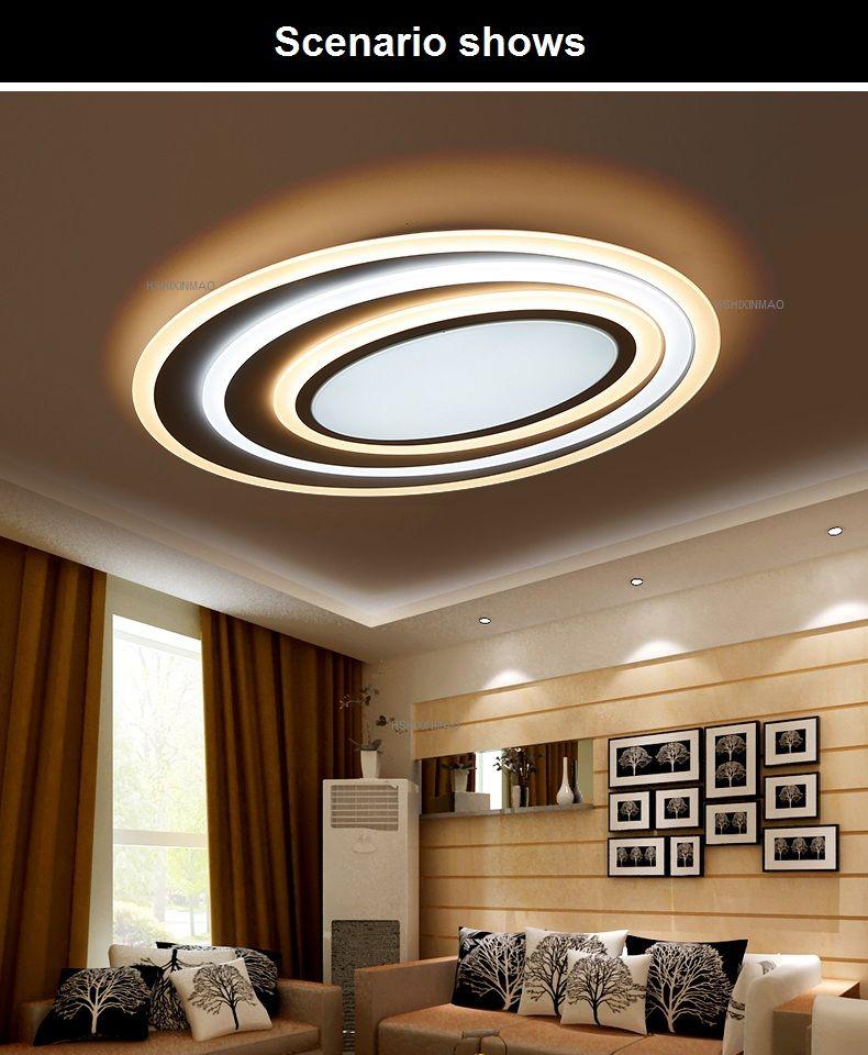 Postmodernen Acryl Kunst Well Led deckenleuchte Wohnzimmer ...