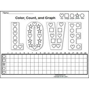 Free Shapes Graph For Valentine S Day Made By Teachers Graphing Free Shapes Shapes Free count and graph worksheets for