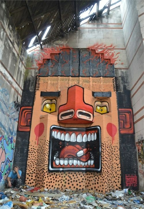 Street Art on buildings