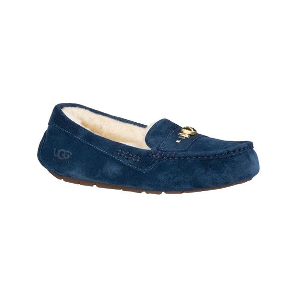3f634e8a291 Women's UGG Ansley Chunky Crystals Moccasin Slipper - Navy Casual ...