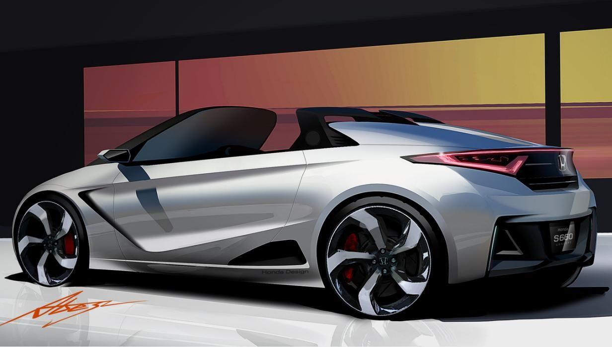 Honda S660 concept drawing Concept car design, Car