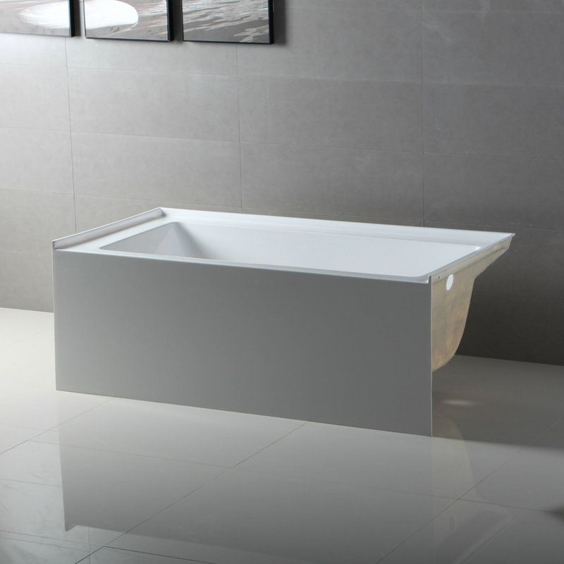 Fine Fixtures 54 X 30 Soaking Fiberglass Bathtub Wayfair Soaking Bathtubs Small Bathroom Bathtub