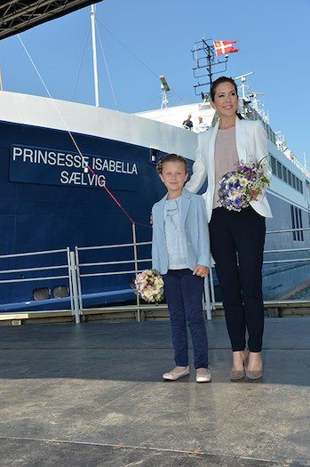 Princess Isabella of Denmark carried out her first official engagements supported by her mother Crown Princess Mary