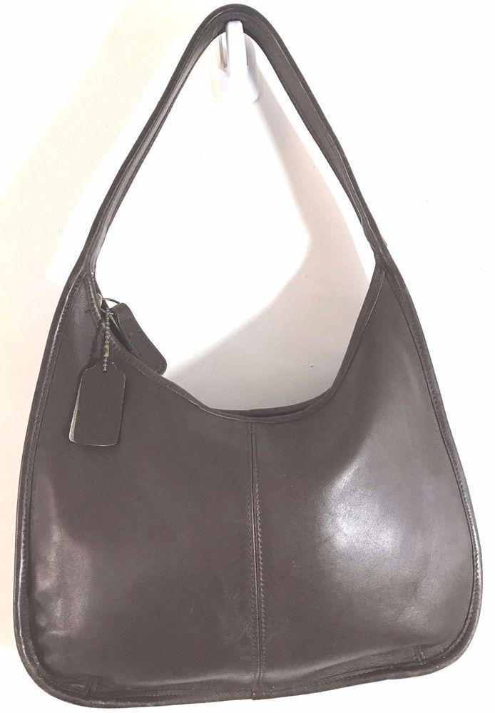 a8d96f3c63 Vintage COACH Brown Ergo Leather Crescent Hobo Tote Shoulder Purse Bag  Handbag  eBayDanna