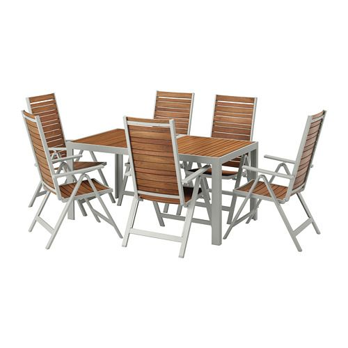 Peachy Table 6 Reclining Chairs Outdoor Sjalland Light Brown Unemploymentrelief Wooden Chair Designs For Living Room Unemploymentrelieforg