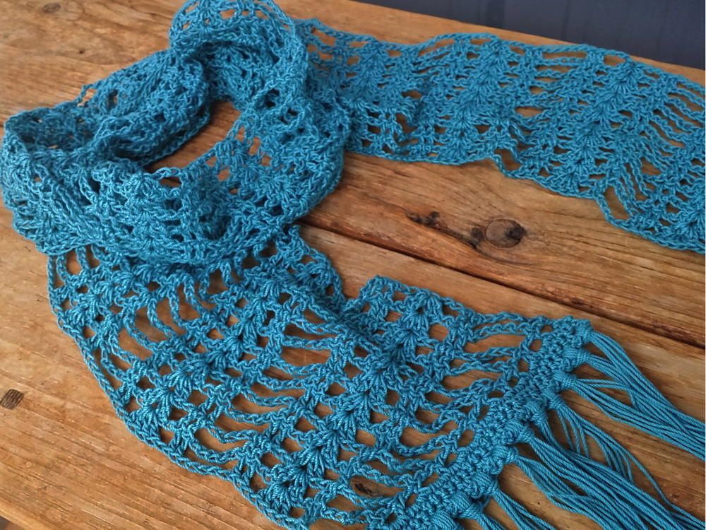 Simply Lace Scarf | Scarves, Crochet and Crochet scarves