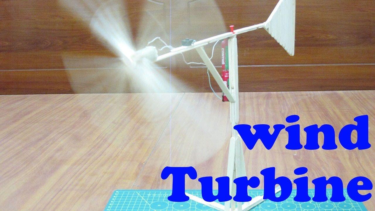 How to make wind turbine using popsicle sticks – homemade