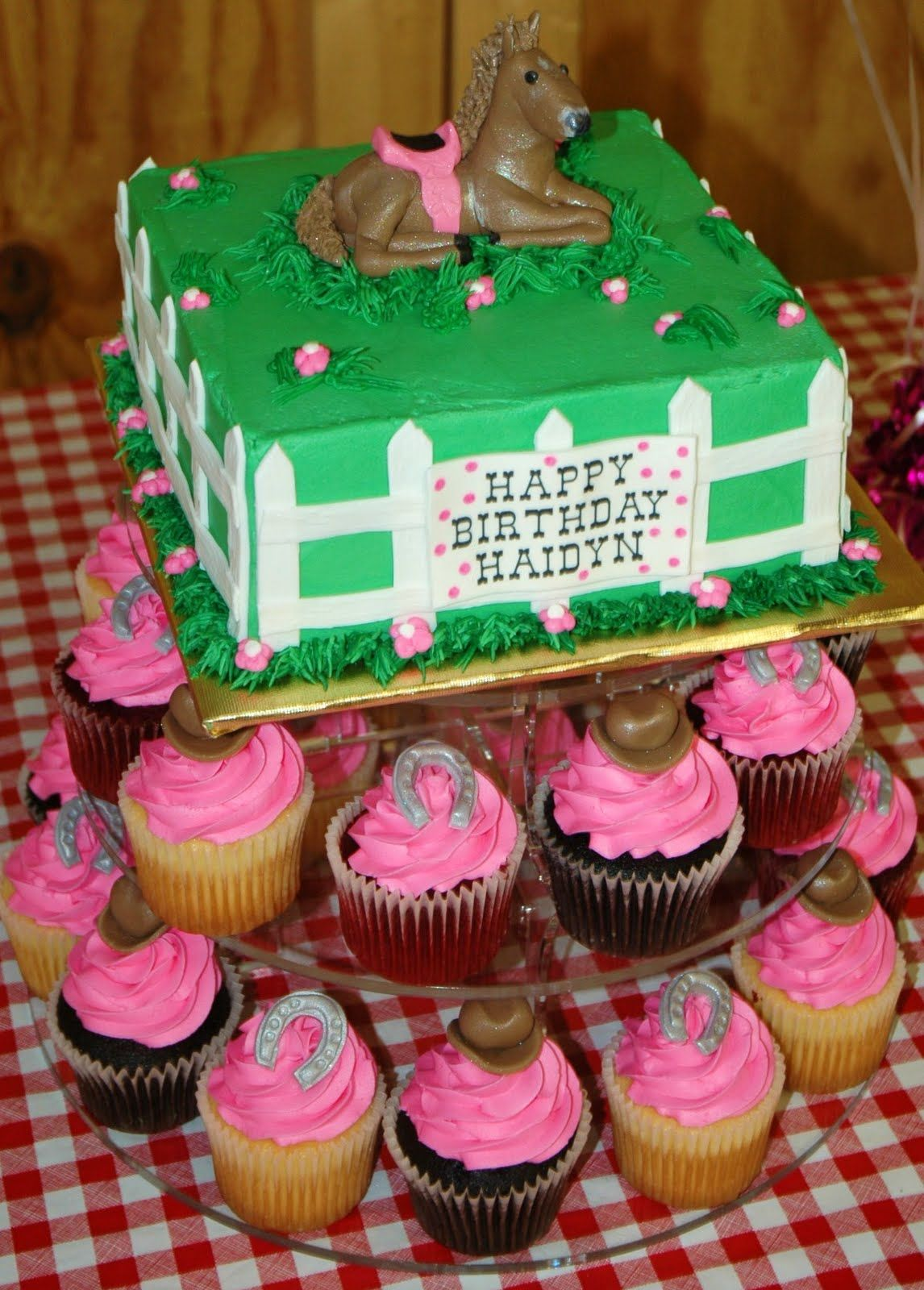 Taras Cupcakes Horse Riding Birthday Party With A Matching Horse