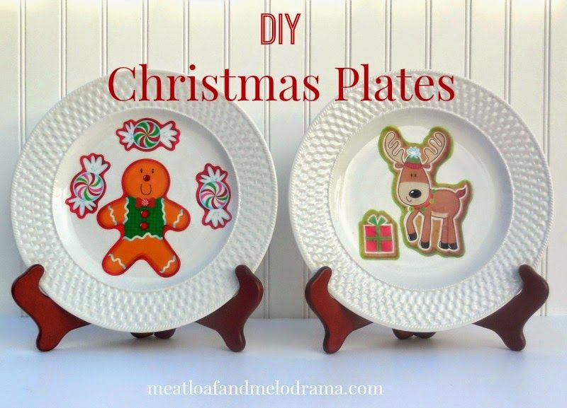 Meatloaf and Melodrama: DIY Christmas Plates #Dollarstorecrafts #Christmascraft
