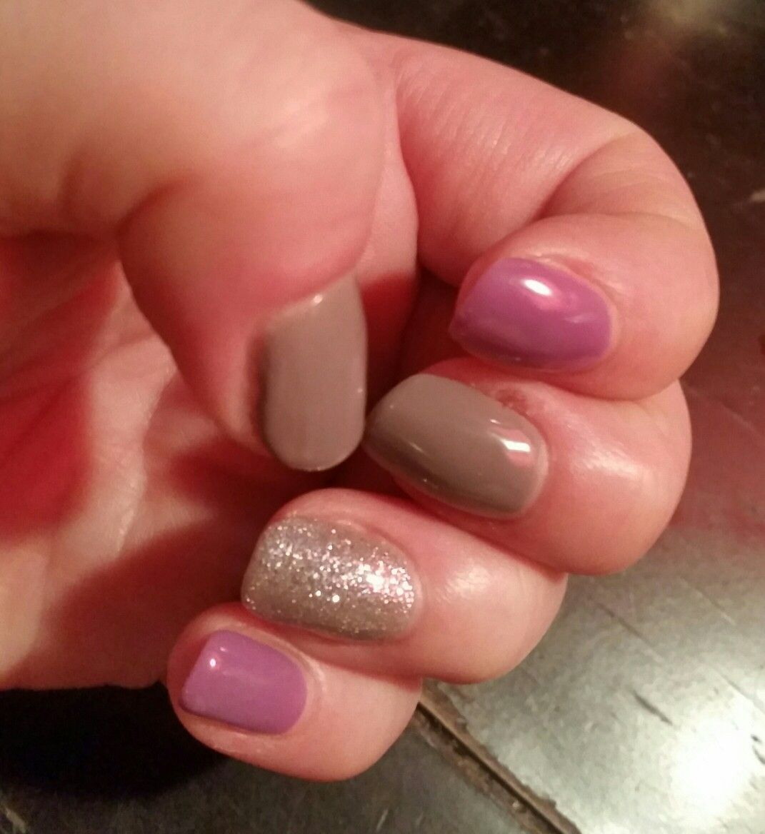 Daisy DND Gel Polish manicure in Royal Violet, Melting Violet ...
