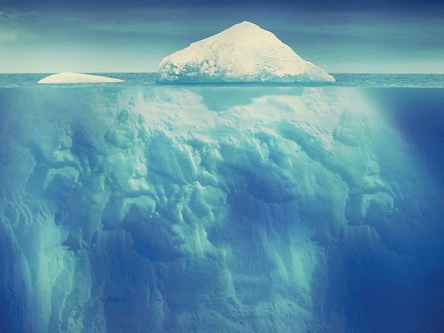 Wow... look how small the iceberg is at the top of the water & how HUGE it is below the surface!!!!