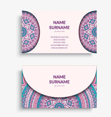 Vector Colored Business Card Business Cards Free Business Card Templates Cards