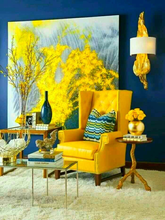 The Yellow Chair Living Rooms & Décor  Pinterest  Color Inspiration Yellow Living Room Chairs Design Decoration