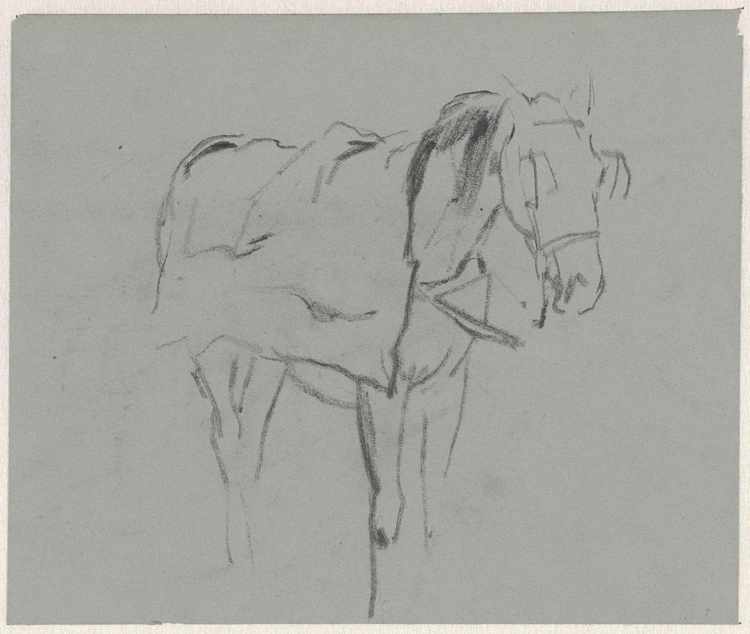 Anton Mauve   Paard, Anton Mauve, 1848 - 1888  