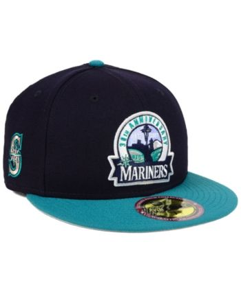 free shipping 93f9b 40403 New Era Seattle Mariners Ultimate Patch Collection Front 59FIFTY Fitted Cap  - Blue 7