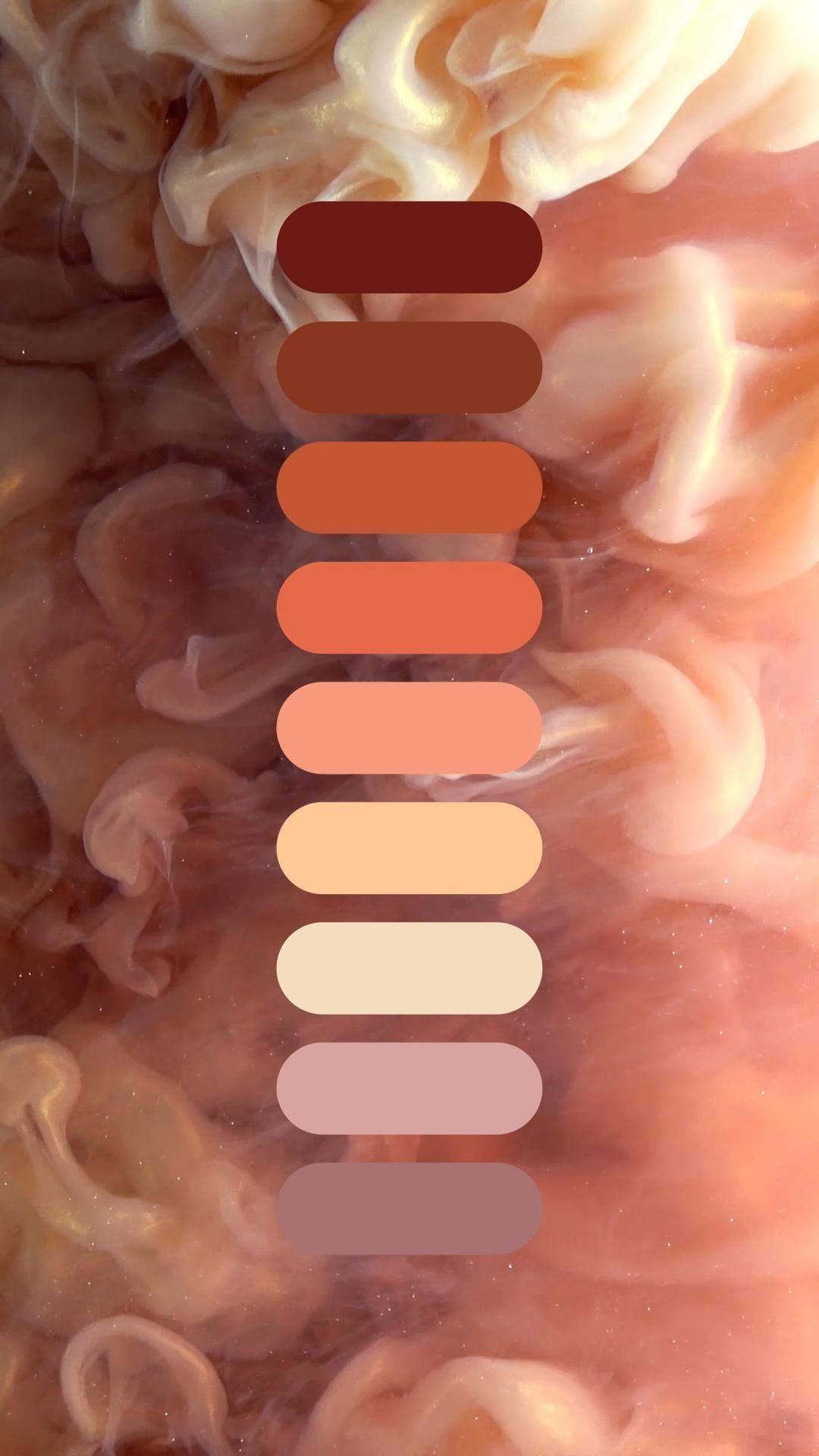 Color Palette: Pastel Peach Ink Diffusion