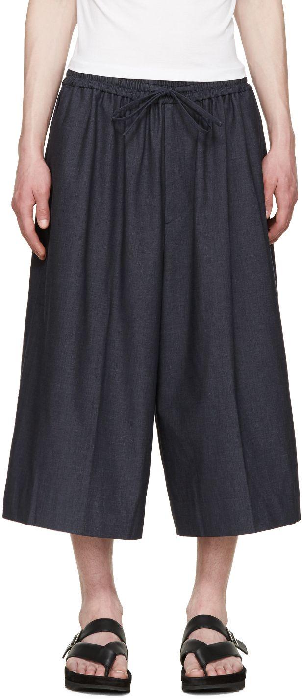 Juun.J Spring 2016 Denim wide-leg trousers