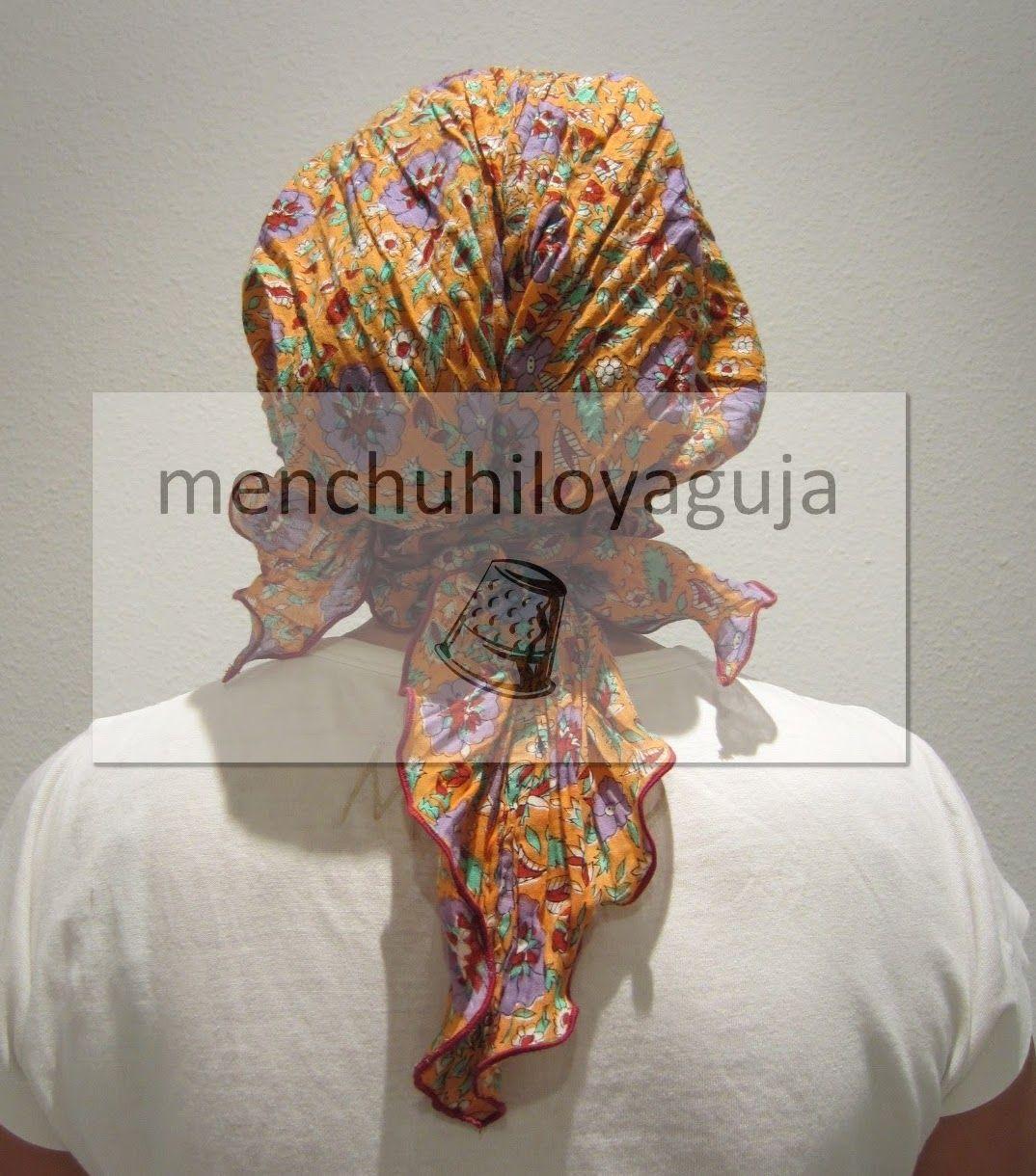 Confeccionar un pañuelo para la quimio. | Sombreros | Pinterest ...