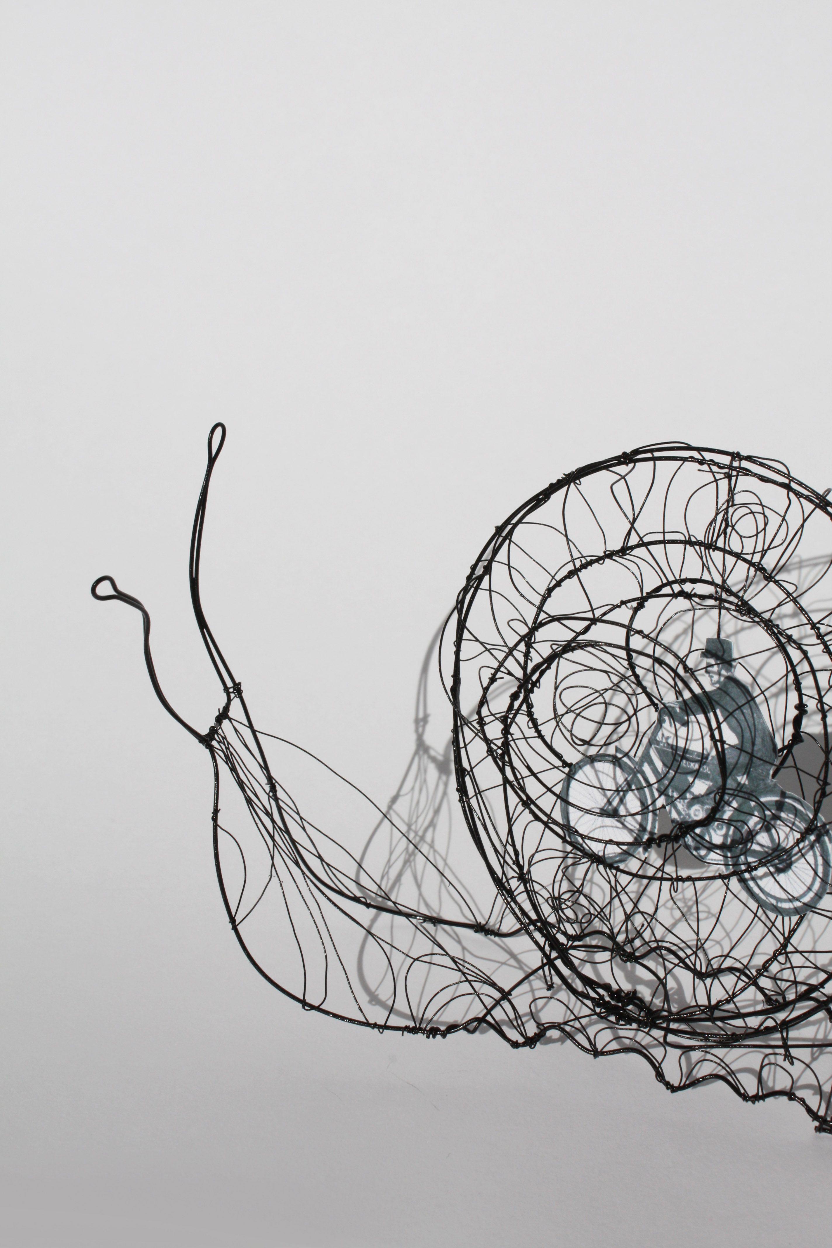 Sculpture fil de fer | Wired | Pinterest | Draht, Schnecke und Metall
