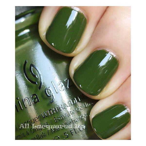 Fall 2011 Nail Polish Trend Military Greens via Polyvore featuring ...