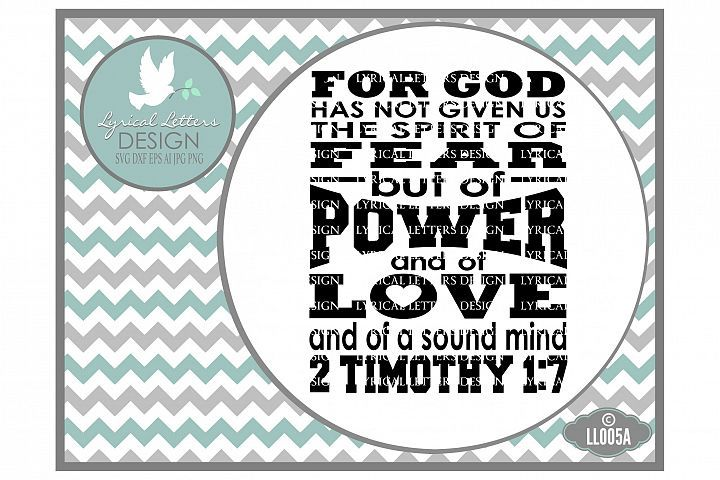 Download God Has Not Given Us the Spirit of Fear SVG DXF LL005A ...