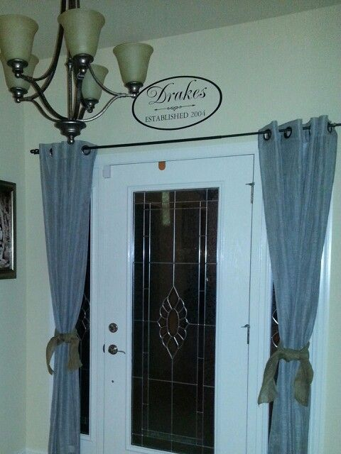 Curtains On Sides Mimic Sidelights Even If You Don T Have