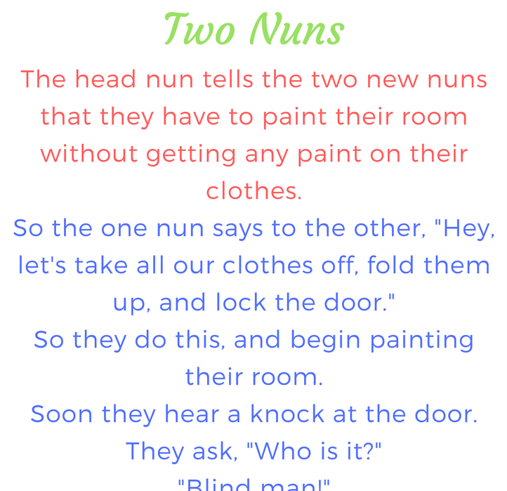 Two Nuns (Funny Story | Funny mom quotes, School quotes ...