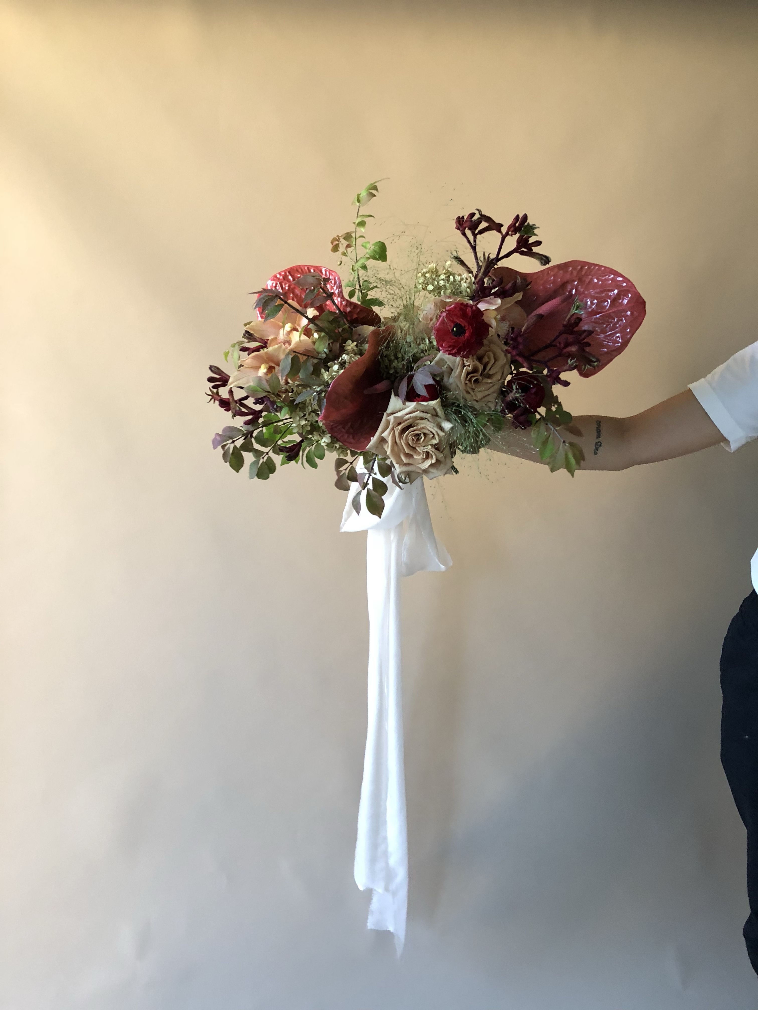 erin's bouquet - frou frou chic ribbon - unique wedding