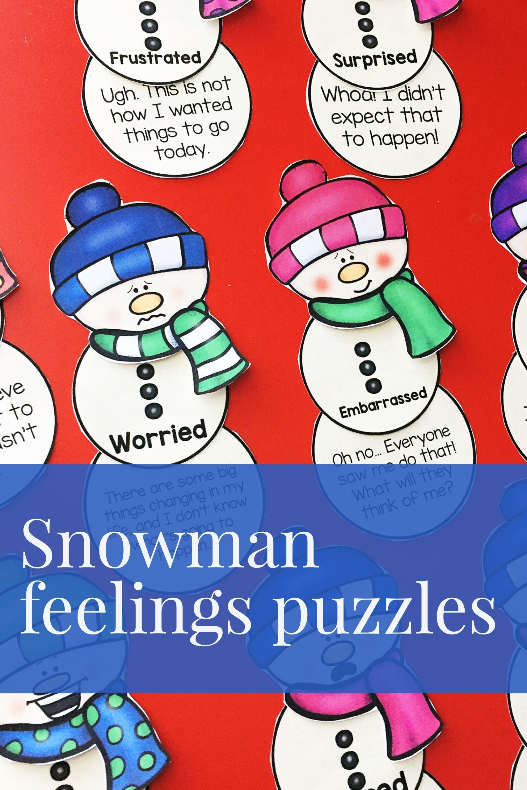 Feelings And Emotions Activity For Winter Or Christmas
