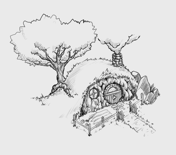 hobbit hole drawings - google search | arts and crafts | pinterest ... - Hobbit Dwarves Coloring Pages