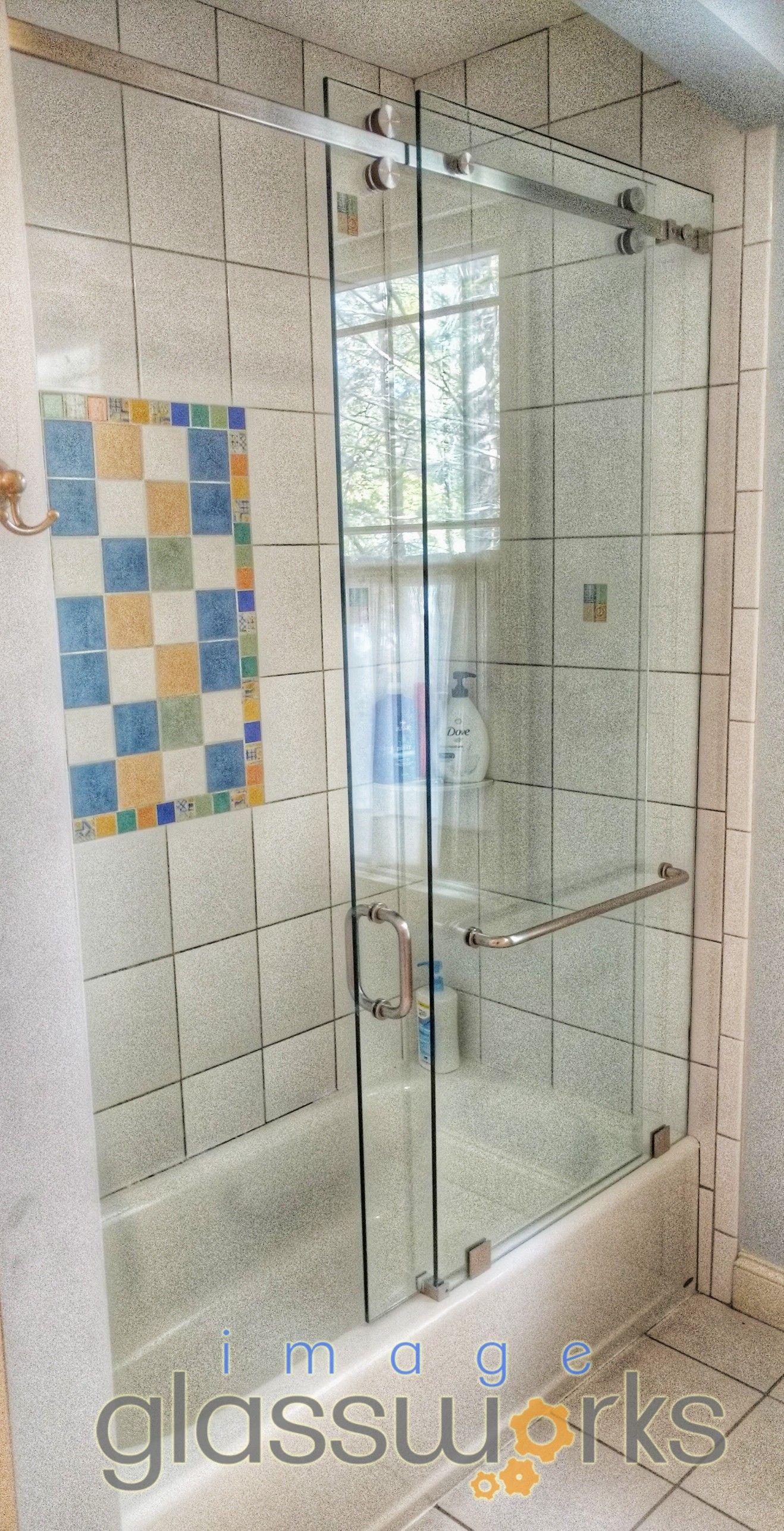 Beautiful Frameless Sliding Shower Door The Model Is A Crl