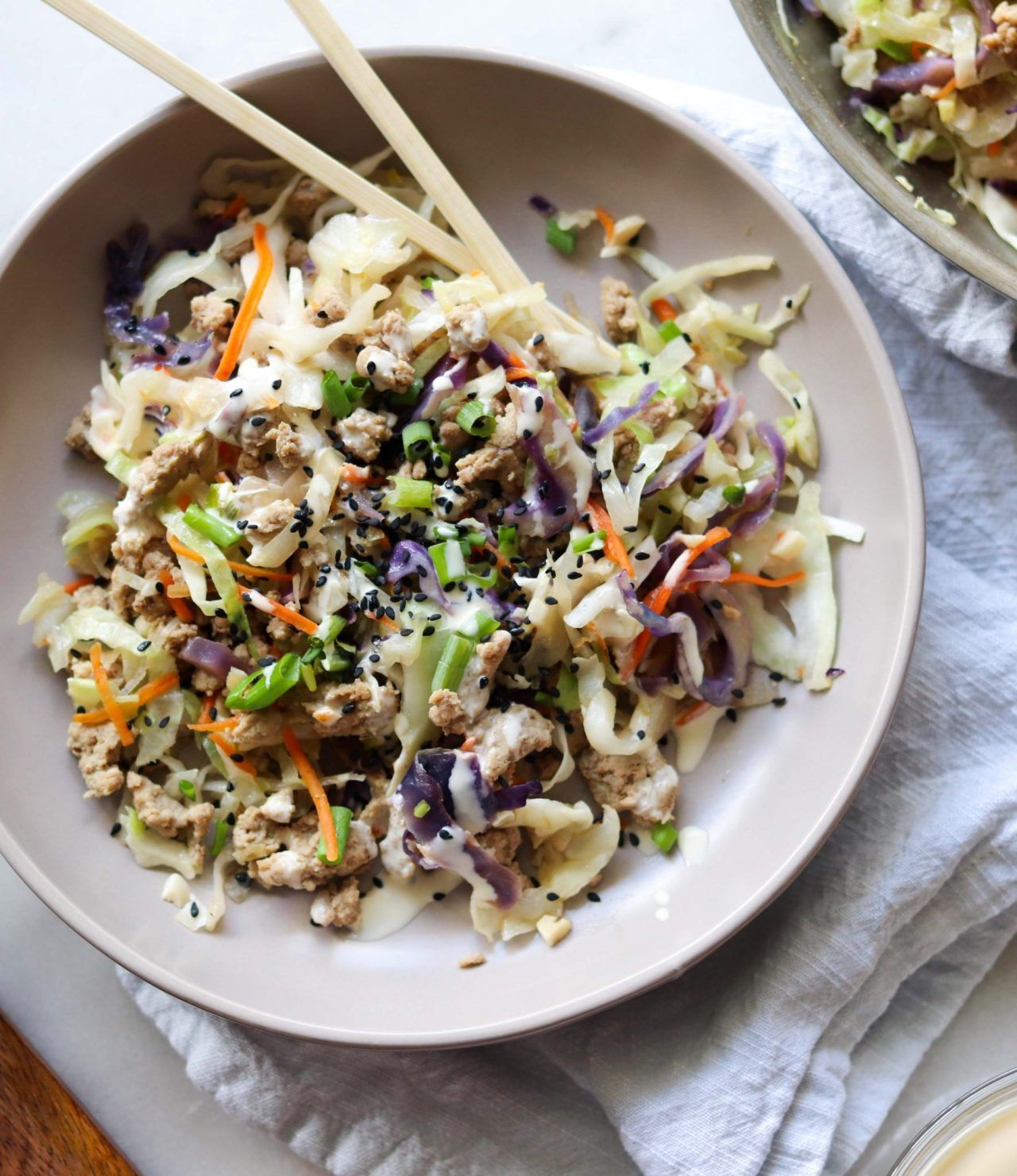 Whole30 Ground Turkey Egg Roll In A Bowl
