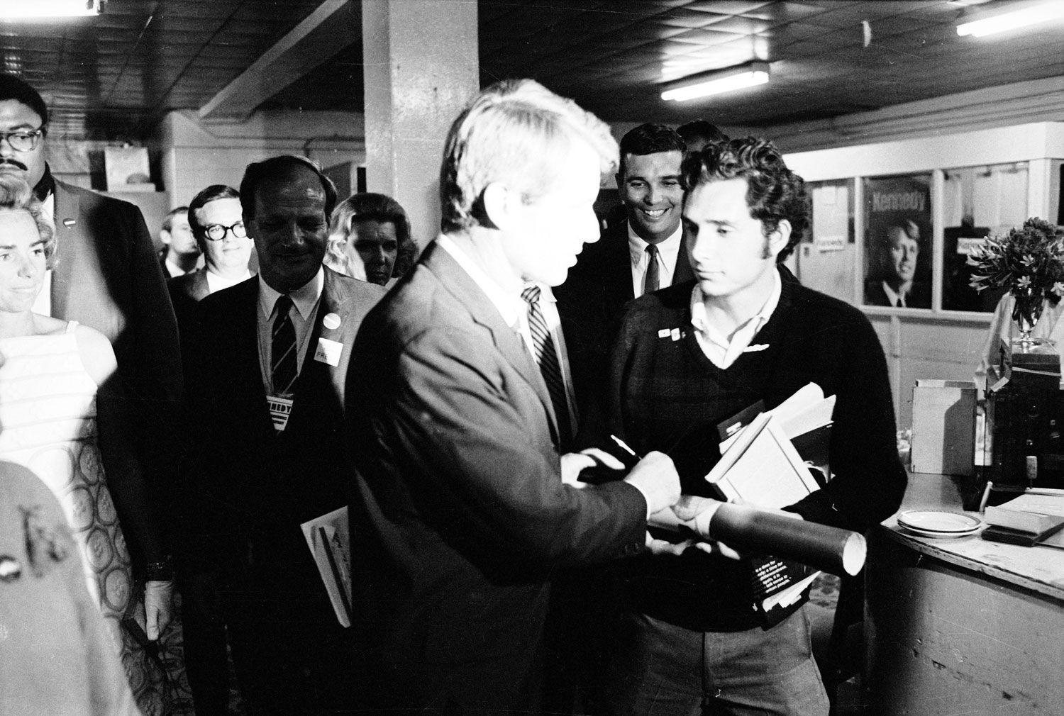 """Heading for his victory speech in the Ambassador Hotel ... Robert Kennedy Assassination"