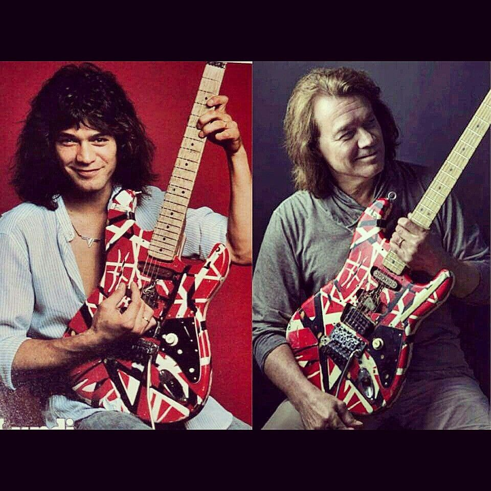 Eddie Van Halen Then And Now Evh Eddievanhalen Alexvanhalen Diamonddave Davidleeroth Michaelanthony Vi Van Halen Eddie Van Halen Greatest Rock Bands