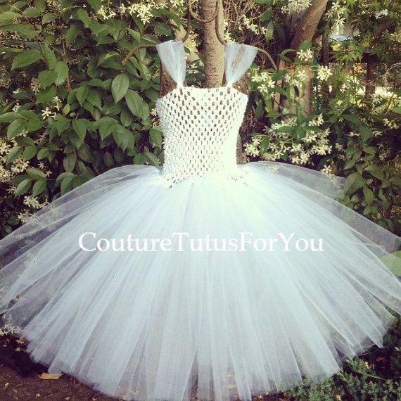 HALLOWEEN SALE Angel white tulle dress, tulle dress, white tutu ...