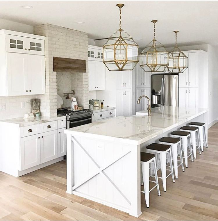 12 Ft Island White Kitchen Design Kitchen Design Decor White Kitchen Decor