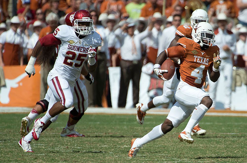 Daje Johnson (4) Texas football, Cotton bowl, Texas