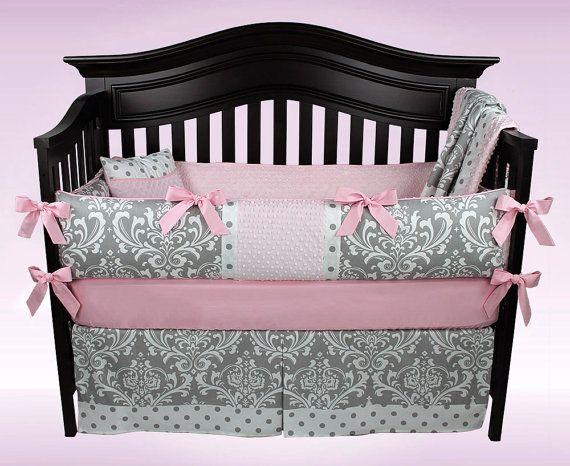 20 Best Damask Nursery Ideas, Red And Black Damask Crib Bedding
