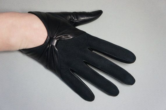a1c4eaa13 1414С-Elegance Women's Genuine Lambskin Leather Gloves Suede Cropped Unlined