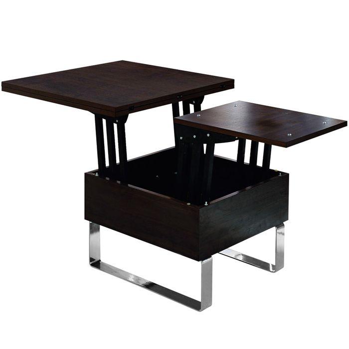 table basse relevable en bois weng avec plateau qui se l ve et se d plie aerotable dvl my. Black Bedroom Furniture Sets. Home Design Ideas