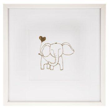 Little Elephant Framed Wall Art Frame Wall Decor Frames On Wall Framed Wall Art