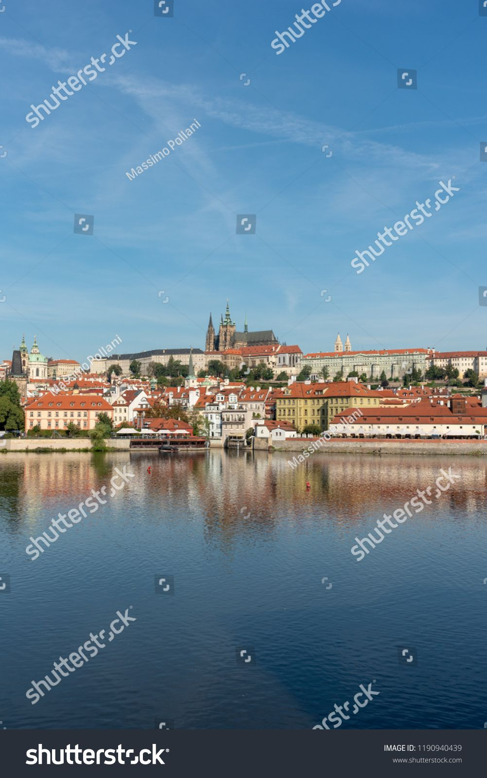 Panoramic View Of Prague Castle And St Vitus Cathedral In Prague Prague Castle Panoramic Views Castle