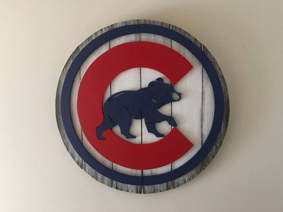 Chicago Cubs 3d Wooden Sign Products Wooden Signs Wood Signs