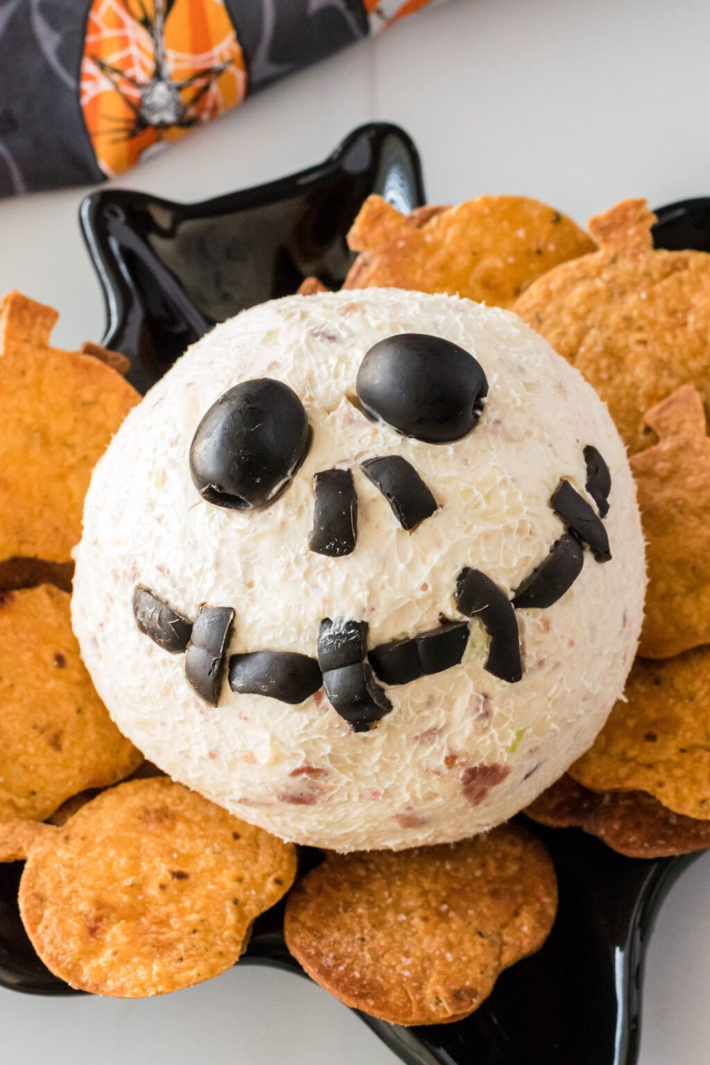 This Jack Skellington Cheese Ball is the perfect appetizer