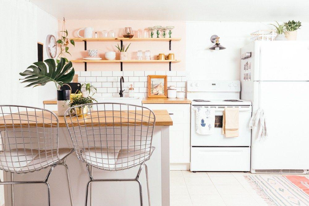 DIY Basement Apartment Kitchen Autumn Hachey