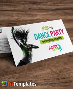 Zumba Or Dance Fitness Business Card Template From Fittemplates